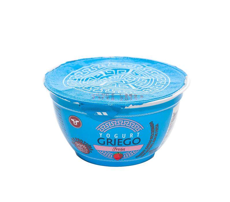 Yogurt griego fresa vaso en - Vasos para yogurt ...